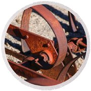 Round Beach Towel featuring the photograph Farm Equipment 4 by Ely Arsha
