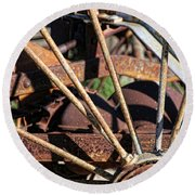 Round Beach Towel featuring the photograph Farm Equipment 5 by Ely Arsha