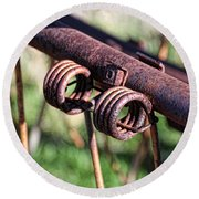 Round Beach Towel featuring the photograph Farm Equipment 6 by Ely Arsha