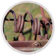 Round Beach Towel featuring the photograph Farm Equipment 7 by Ely Arsha