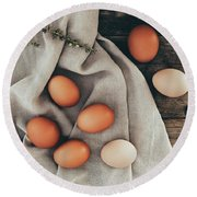 Round Beach Towel featuring the photograph Farm Fresh by Kim Hojnacki