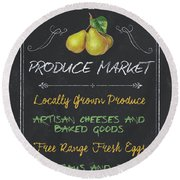 Farm Fresh Produce Round Beach Towel