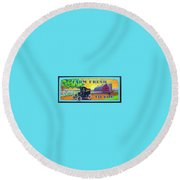 Round Beach Towel featuring the painting Farm Fresh To You  by Alan Johnson