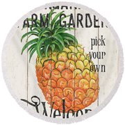 Farm Garden 1 Round Beach Towel