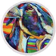 Farm Goat Round Beach Towel