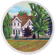 Farm House - Chinden Blvd Round Beach Towel