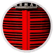 Farmall Grill Round Beach Towel by Sherman Perry