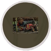 Farmall Tractor - Forever Florida Round Beach Towel