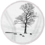 Farndale Winter Round Beach Towel