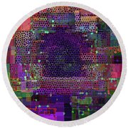 Fascination 5  Round Beach Towel by Lynda Lehmann