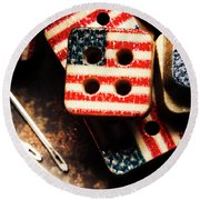 Fashioning A Usa Design Round Beach Towel