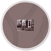 Fast Food 1963 Round Beach Towel