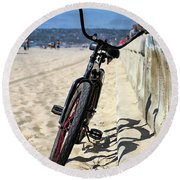 Fat Tire - Color Round Beach Towel
