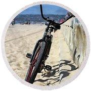 Fat Tire - Color Round Beach Towel