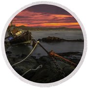 Fate Of The Point Estero Round Beach Towel