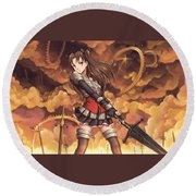 Fate/stay Night Unlimited Blade Works Round Beach Towel