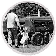 Round Beach Towel featuring the photograph Father/daughter Day by Rick Morgan