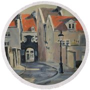 Fathers Gate Maastricht Round Beach Towel
