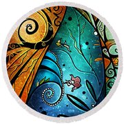 Fathoms Below Round Beach Towel