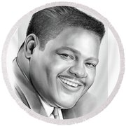 Fats Domino Round Beach Towel