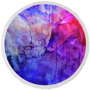 Faux Chasm Round Beach Towel