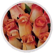 Favorite Roses Round Beach Towel
