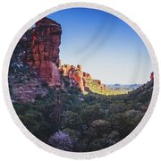 Fay Canyon Vista Round Beach Towel