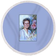 Faye Round Beach Towel
