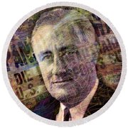 FDR Round Beach Towel