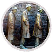 Fdr Memorial 4 Round Beach Towel by Randall Weidner