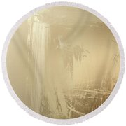 Elven Gem Smith Round Beach Towel