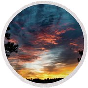 Fearless Awakened Round Beach Towel