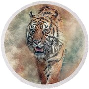 Fearless Round Beach Towel by Brian Tarr