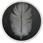 Feather 1 Round Beach Towel
