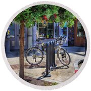 Feather Bicycle Round Beach Towel