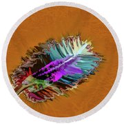 Feather #h8 Round Beach Towel