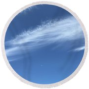 Feather In The Sky Round Beach Towel