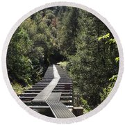 Feather River Flumes Round Beach Towel