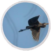 Round Beach Towel featuring the photograph Feathering The Nest by David Bearden