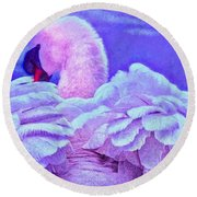 Feathers Of Royalty Round Beach Towel
