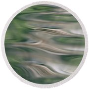 Water Feathers Round Beach Towel