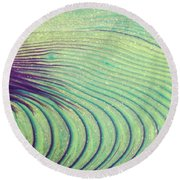 Feathery Ripples Round Beach Towel by Julie Clements