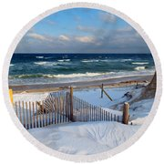 February Delight Round Beach Towel