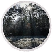 February Morning Round Beach Towel