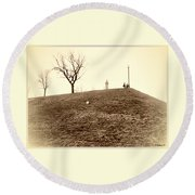 Round Beach Towel featuring the photograph Federal Hill by Brian Wallace