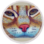 Feel It Round Beach Towel