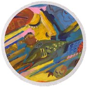 Feel Round Beach Towel by Rita Fetisov