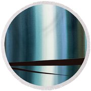 Round Beach Towel featuring the painting Feeling Engaged by Carmen Guedez