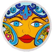 Feeling Groovy Round Beach Towel