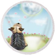 Feeling Love Round Beach Towel by Catia Cho